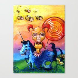 The Candy Warrior Canvas Print