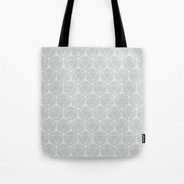 Icosahedron Soft Grey Tote Bag