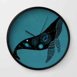 Whale Soul & the Galactic Tour Wall Clock