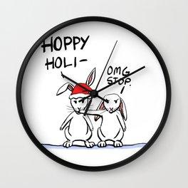 Hoppy Holidays Wall Clock