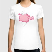 woodstock T-shirts featuring Flying Pig Animal by Nxolab