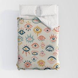 Mystic Eyes – Primary Palette Duvet Cover