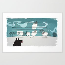 A sheep odyssey Art Print