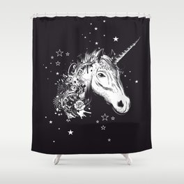 Head of a unicorn Shower Curtain