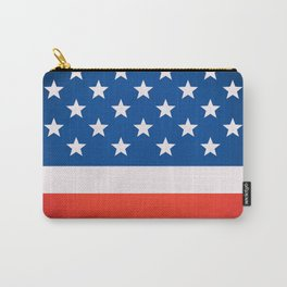 USA national flag background in vintage style MINI Carry-All Pouch