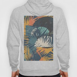 ABSTRACT TROPICAL SUNSET with palm leaves Hoody