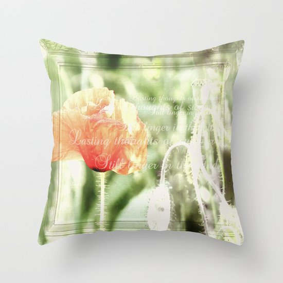 Lasting thoughts of summer Throw Pillow