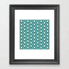 NGWINI - penguin love pattern 6 Framed Art Print