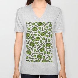 Green Vegetables Pattern Unisex V-Neck