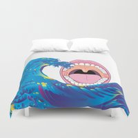 dentist Duvet Covers featuring Hokusai Rainbow & Mouth  by FACTORIE