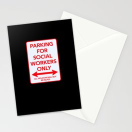Social workers Parking sign Stationery Cards