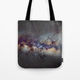 The Milky Way: from Scorpio, Antares and Sagitarius to Scutum and Cygnus Tote Bag