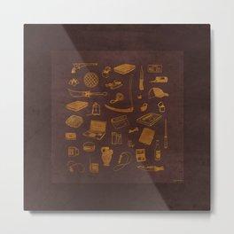 Supernatural - Brown Metal Print