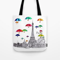 Travel with Umbrella Tote Bag