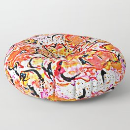 Lovely wall poppies Floor Pillow