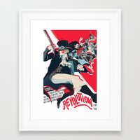 revolution Framed Art Prints featuring Revolution! by yamineftis