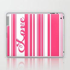 Barcode Love; Pink. Laptop & iPad Skin