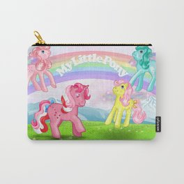 g1 my little pony Galaxy and Flutter ponies Carry-All Pouch