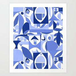 tango in blue ... Art Print