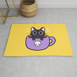 Happy Coffee Cat Rug