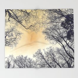 Infrared Forest Throw Blanket