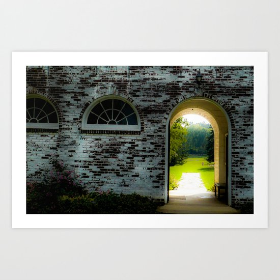Windows and arches Art Print