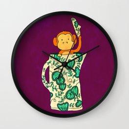 Dinnerware sets - Monkey in a jug Wall Clock