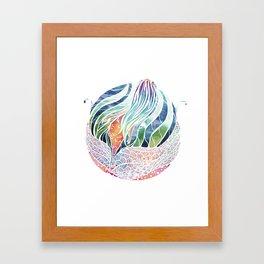 Mermaid ascending Framed Art Print