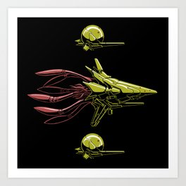 The Bioship Shinden Art Print