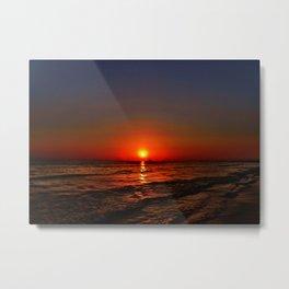 Sonnenuntergang am Meer Metal Print