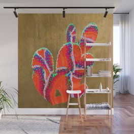 prickly pear agate in red Wall Mural