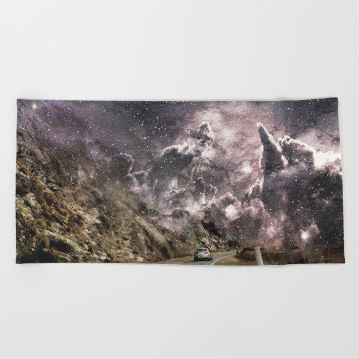 Space gazing Highway One Beach Towel