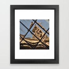 Grand Central Station Facade Reflection Framed Art Print