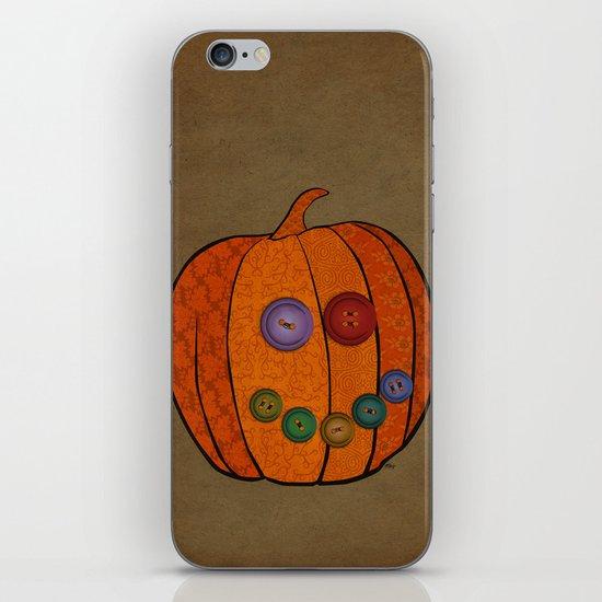 Patterned pumpkin  iPhone & iPod Skin