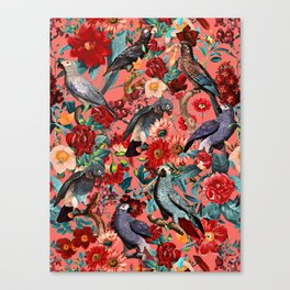 FLORAL AND BIRDS XIX Canvas Print