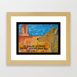 Coyote Wisdom Framed Art Print