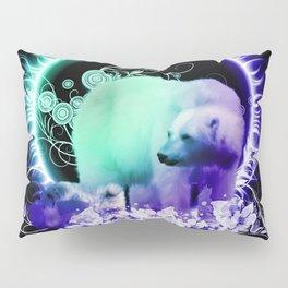 Awesome polar bear with cub Pillow Sham