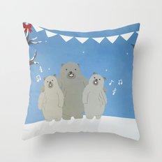 Winter Bears Throw Pillow