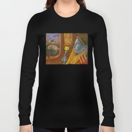 Dream caused by the flight of a cliff racer around a guar a second before awakening Long Sleeve T-shirt