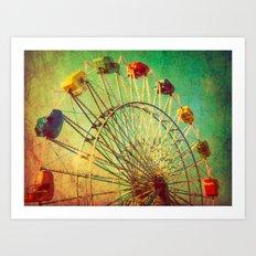The Unbearable Elation of Summer carnival ferris wheel  Art Print