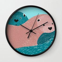 Nutrias Wall Clock
