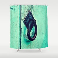 door Shower Curtains featuring Door by Mr and Mrs Quirynen