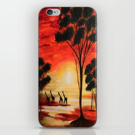 African sunset iPhone Skin