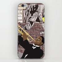 louis armstrong iPhone & iPod Skins featuring Louis Armstrong by Cwilwol