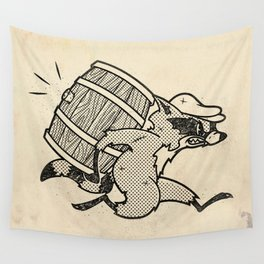 THE  WHISKEY SMUGGLER - vintage cartoon 80's Wall Tapestry