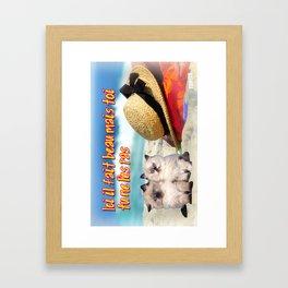 Carte Postale - Il fait beau mais toi tu ne l'es pas Framed Art Print