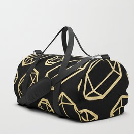Black & Gold Crystal Pattern Duffle Bag