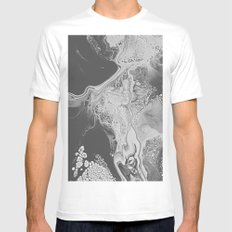 DEVOTION White Mens Fitted Tee MEDIUM