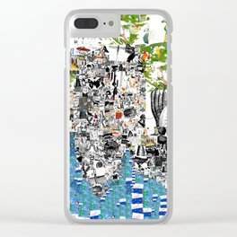 Oli Goldsmith Portrait of The Artist as His Art Clear iPhone Case