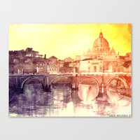 rome Canvas Prints featuring Rome by takmaj